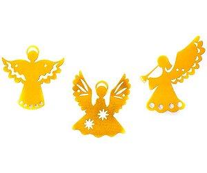 Varal Anjo de Papel metalizado Dourado 3 MT