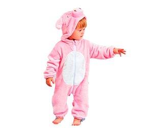 Fantasia de Pelúcia Porco tam - 24 meses