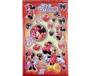 Adesivo Red Minnie alto relevo com 20 und