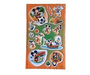 Adesivo Mickey Esportes alto relevo com 15 und