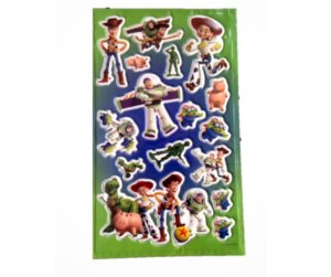 Adesivo Toy Story verde alto relevo com 16 und