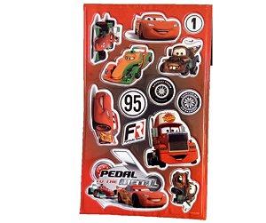 Adesivo Carros Vermelho alto relevo com 13 und