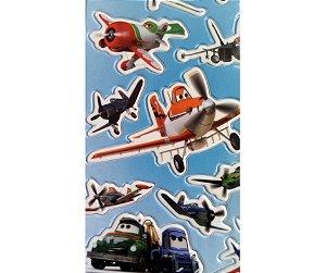 Adesivo Aviões Azul alto relevo com 12 und