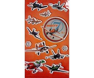 Adesivo Aviões Vermelho alto relevo com 12 und