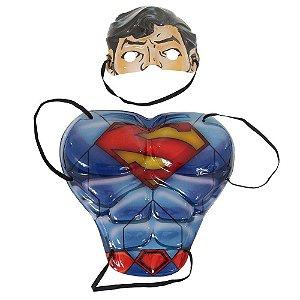 Kit Superman Peitoral e máscara infantil