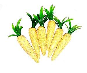 Enfeite Cenoura de isopor com bolinhas c/6 unidades