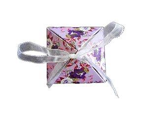 Caixinha lilás presente com fita unidade