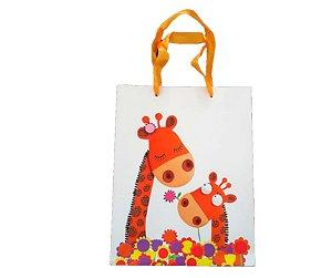 Sacola de papel Girafa