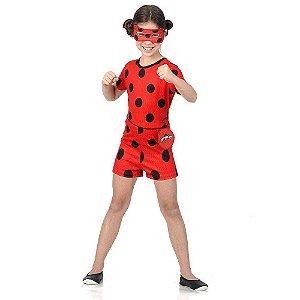 Fantasia Ladybug curta M - Infantil