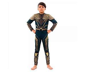 Fantasia Aquaman infantil tam P 3-4 anos