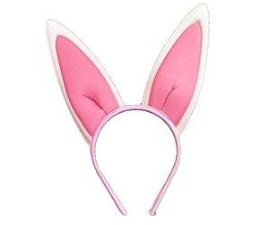 Tiara coelho rosa