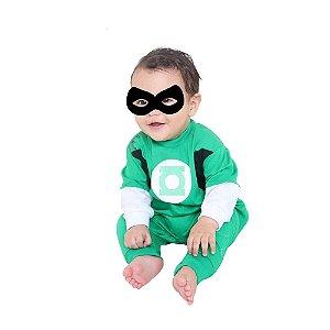 Macacão Lanterna Verde Tam G - 9 meses