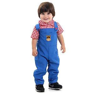 Fantasia Fazendeiro bebê menino P 1 ano