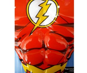 Kit Flash Peitoral e Máscara Infantil