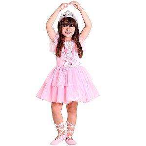 Fantasia Barbie Quero Ser Uma Bailarina tam G 10 a 12 anos