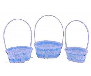 Kit Cesta Azul com 3 unidades