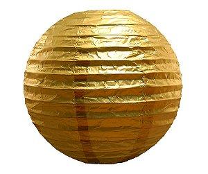 Enfeite Bola de Papel Dourado 16 polegadas
