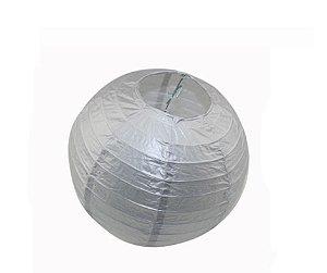 Enfeite Bola de Papel Prata 16 polegadas
