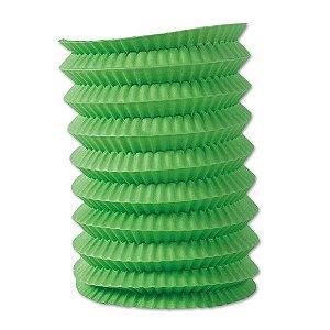 Lanterna Sanfonada Verde 10 cm diâmetro