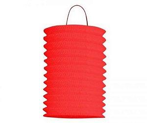Lanterna Sanfonada Vermelho 10 cm diâmetro