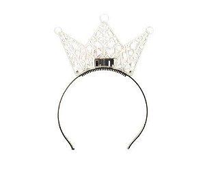 Tiara Princesa Transparente com Led