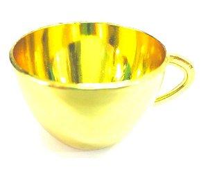 Mini Xícaras Douradas c/12 unidades