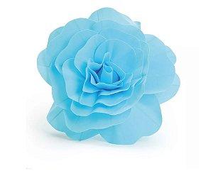 Flor Decorativa 45cm Azul
