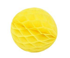 Enfeite Colmeia de Papel Amarelo 30cm