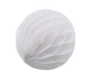 Enfeite Colmeia de Papel Branco 30cm