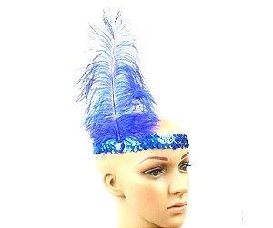 Faixa Melindrosa Azul com Pluma