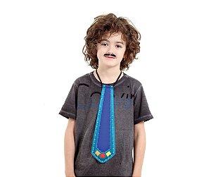 Gravata Junina Infantil Azul