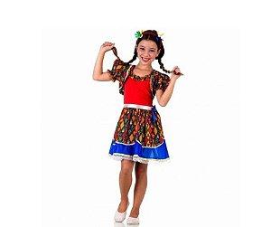 Vestido Caipira Vermelho Com Bolero tam G 10 a 12 anos - Aluguel