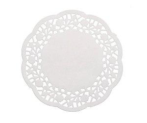Papel Rendado Doilies 10 cm Branco