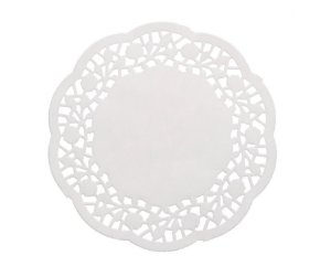 Papel Rendado Doilies Branco 12,5 cm