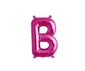 """Balão Metalizado Rosa Letra B 40"""""""
