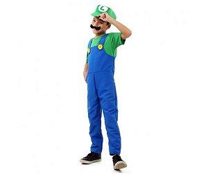 Fantasia Luigi luxo tam P 3 a 4 anos
