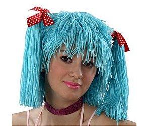 Peruca Boneca Azul