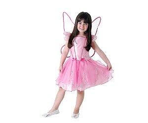 Fantasia Fada dos Sonhos Rosa M 6 a 8 anos