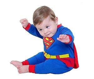 Fantasia Macacão Super Homem P 3 meses
