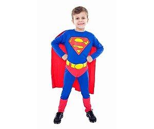Fantasia Super Homem Tam P 3 a 4 anos