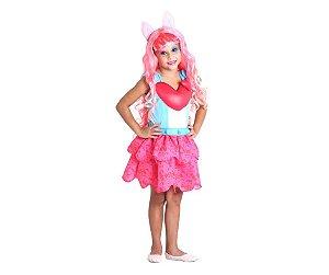 Fantasia Rainbow Rocks Pinkie Pie tam P 3 a 4 anos