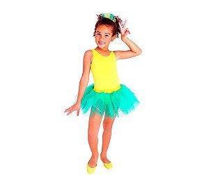 Fantasia Bailarina Brasileirinha tam G 10 a 12 anos