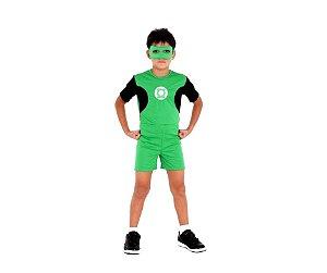 Fantasia Lanterna Verde Pop tam P 3 a 4 anos