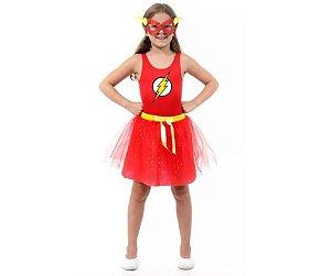 Fantasia Vestido The Flash G 10 a 12 anos