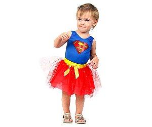 Fantasia Super Mulher Bebê P 1 ano