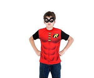 Camiseta e Máscara Robin P 14 anos