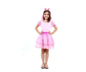 Fantasia Vestido Porquinha P 4 anos