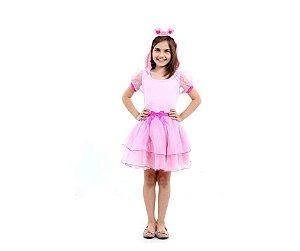Fantasia Vestido Porquinha G 8 anos