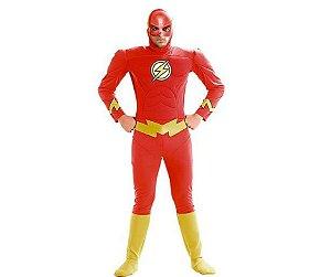 Fantasia The Flash Adulto tam M 42 a 44 - Aluguel