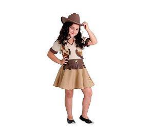 Fantasia Cowgirl tam P 3 a 4 anos